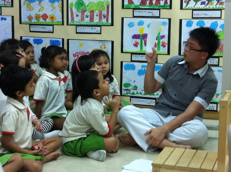 Yeo Ping Chong (14S03A) volunteered for three weeks at the Little Wings kindergarten as part of his Gap Semester