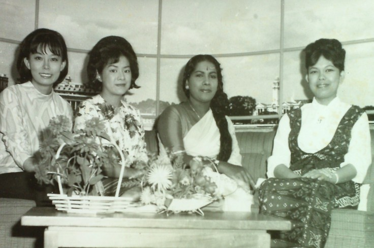 Professor Patricia Lin (Anna Patricia Lim), pictured on the far left, was one of the pioneers in TV presenting. (Photo courtesy of Professor Patricia Lin)