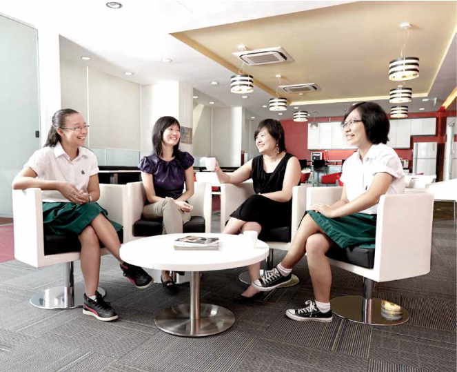 From left: Daniella Low, Wong Pei Chi, Teng Qian Xi and Gao Wenxin