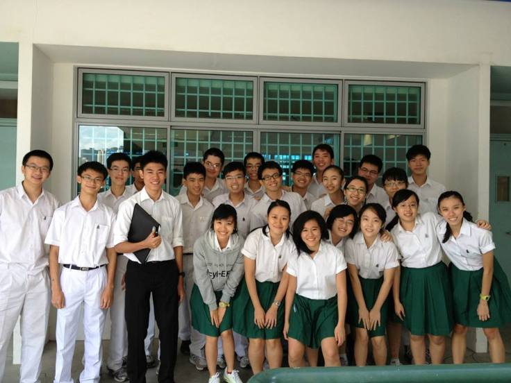 Daphne (second row, third from right) with her class, 14S03P