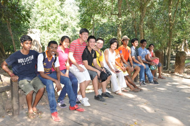 Mrs Lim on an RPA community service trip to Angkor Wat, Cambodia