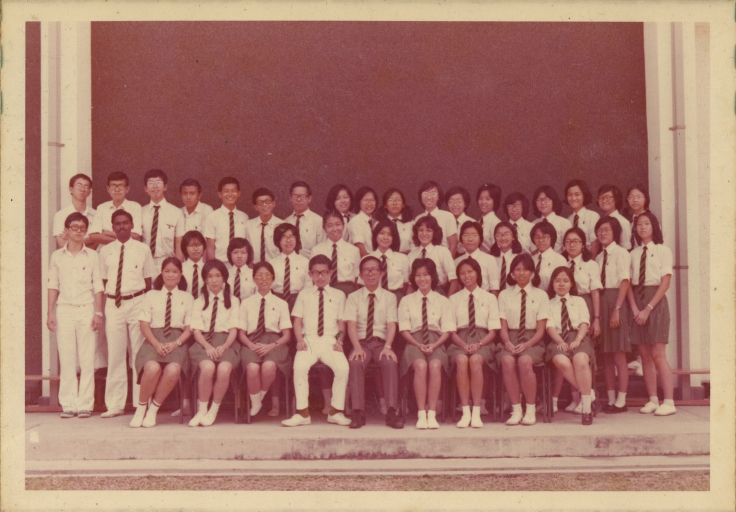 Mr Chan with I Arts C, his Pre-University Class. His Civics and Economics tutor was Mr Chow