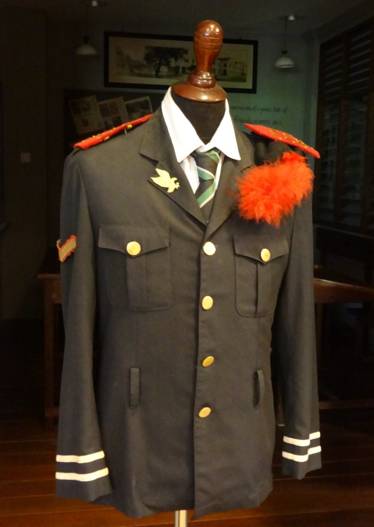 The RIMB uniform in the former RI Heritage Centre