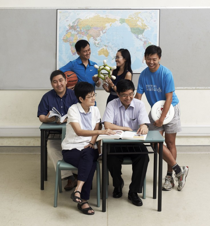 Clockwise from left: Mr Lu Shang-Yi, Mr Carlsen Tay, Ms Tang Mui Kee, Mr Leroy Choo, Mr Chan Ter Yue, Ms Wang Juat Yong Not pictured: Mr Mohamed Kamel and Ms Ng Yee Ling