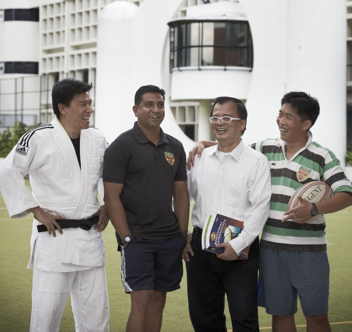 From left to right: Mr Eng Han Seng, Mr Michael Jeyaseelan, Mr Lam Nam Soon, and Mr Tan Mian Ou Not pictured: Mr S Magendiran