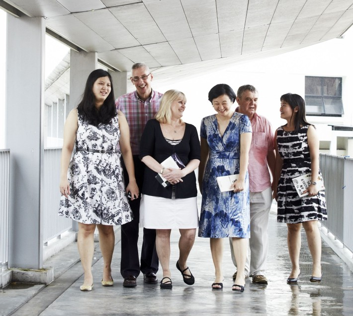 From left to right: Ms Lye Su-Lin, Mr Jamie Reeves, Mrs Nicola Perry, Ms Melissa Lim, Mr Geoffrey Purvis and Ms Teo Siew Kuang