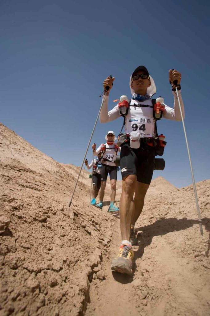 The Gobi March is an annual seven-day self-supported footrace in the Taklamakan Desert