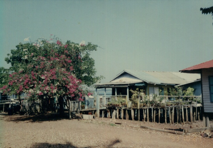 Typical Malay stilt housing found on many offshore islands of Singapore, including Pulau Seking