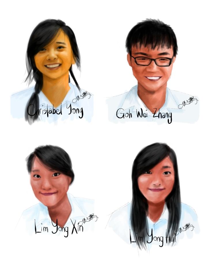 Portraits of Mr Chong's civics class students