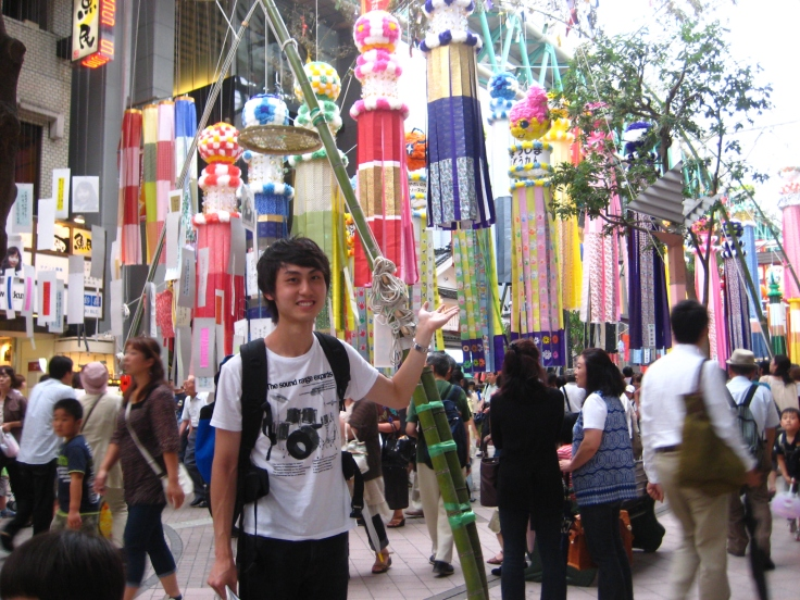 Tanabata Festival in Sendai, Miyagi Prefecture
