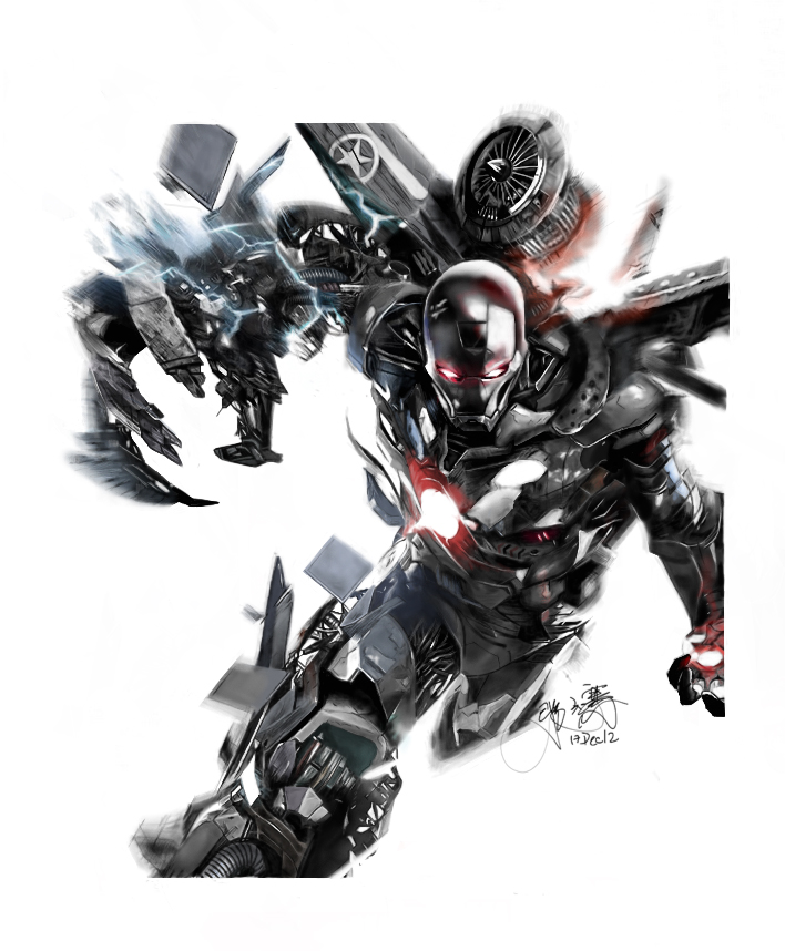 Illustration of War Machine from the movie Iron Man