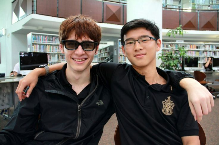 Neil (on the left) and Huey Lee, the Chairperson and Vice-Chairperson of the Raffles Computer Science Club