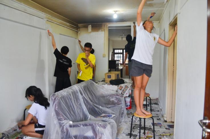 Habitat for Humanity in full swing, refurbishing an apartment unit