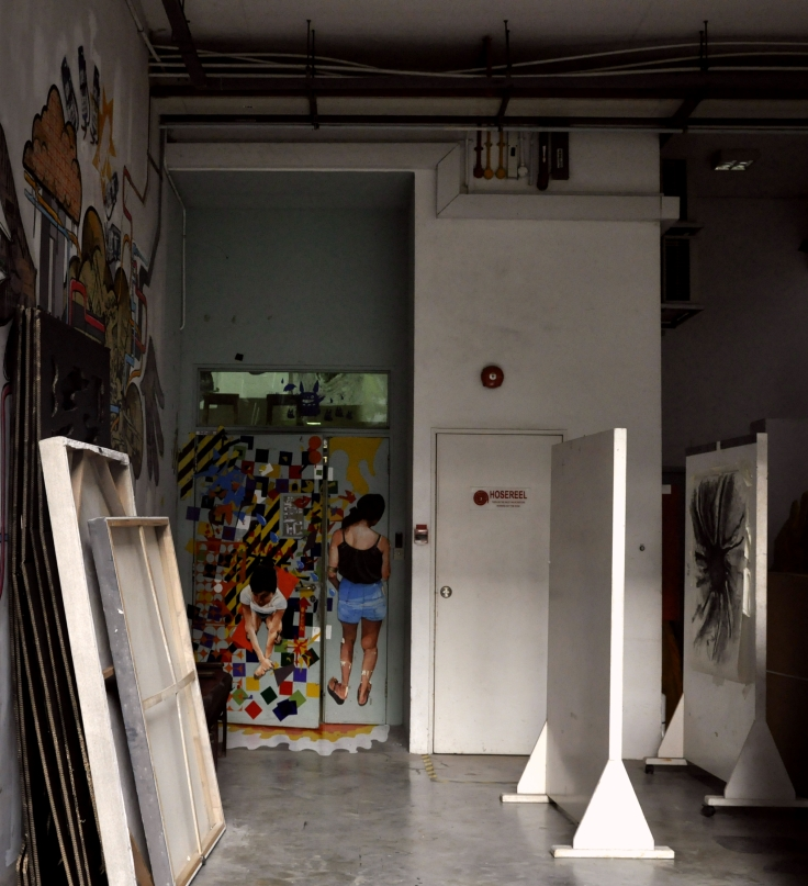The art room's entrance is ensconced in a corner of the first level of Block A, near the meeting point. Access is only to be gained by key card or invitation from a teacher; non-art students are strictly denied entrance.