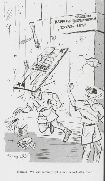 Cartoon from the 1962 issue of The Rafflesian