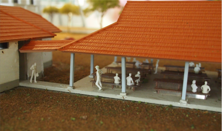 Mr Teo populated the canteen with tiny figurines