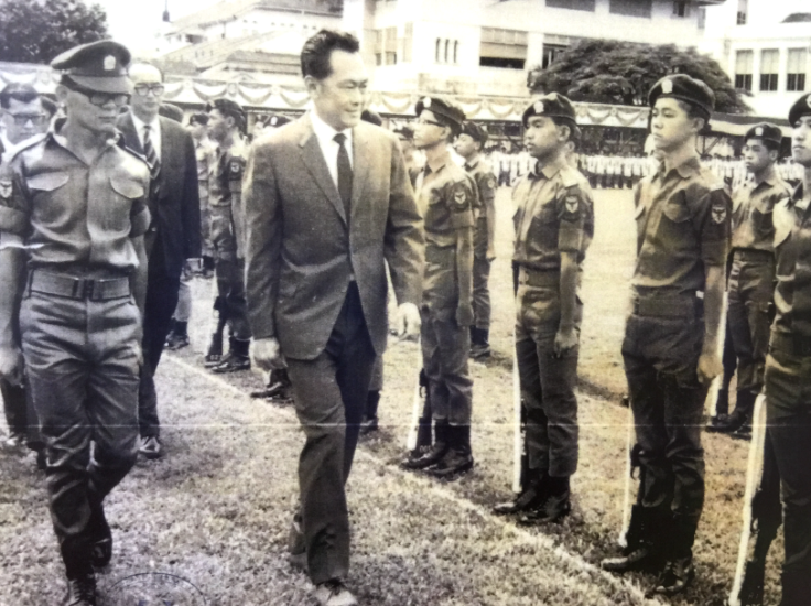 Mr Lee was the guest-of-honour for RI's 146th Founder's Day in 1969
