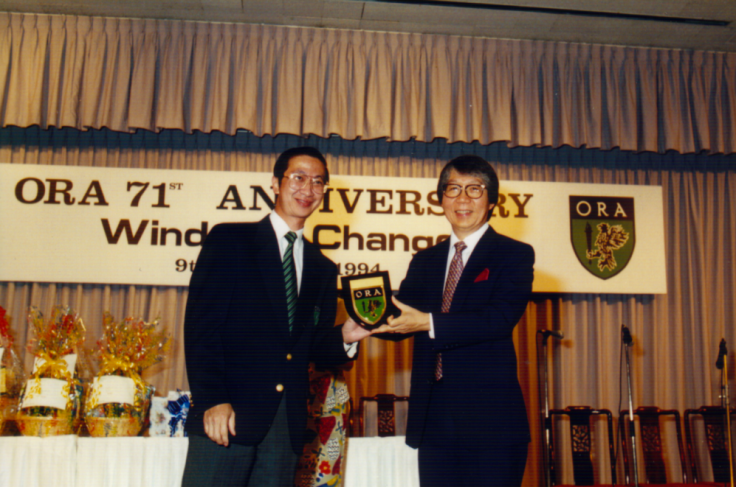 Professor Tommy Koh at the 71st Anniversay of the Old Rafflesians' Association (ORA) in 1995.