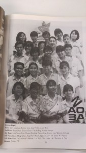 Mr Reeves and his form class in 1991. Current Chief of Navy RADM Lai Chung Han is in the 3rd row.