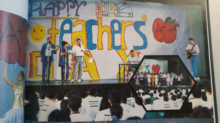 Mr Reeves at a Teachers day performance