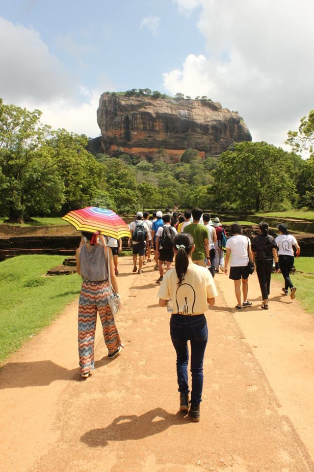 The Humanities students on their way to the Sigriya rock fortress in Sri Lanka (2016 Sri Lanka OEP)